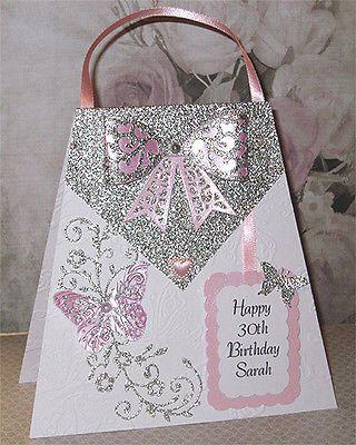 Personalised Handmade 30th Birthday Card 18th 21st 40th 50th 60th Etc 50th Birthday Cards For Women Girl Birthday Cards 30th Birthday Cards