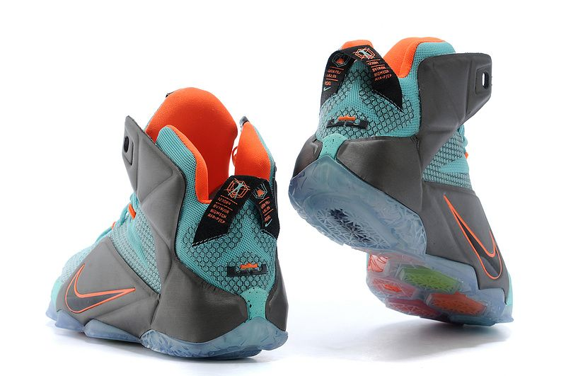 new concept 9bd90 9aaaf Nike LeBron 12 Turquoise Grey  129.99