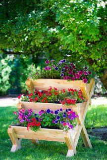 Cedarcraft Cascading Garden Planter Planter Boxes 400 x 300