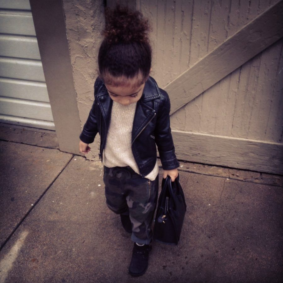 Leather jackets for kids - Checking In With Stylist Monica Rose And Stylish Baby Alaia Camo Pantsleather Jacketsleather