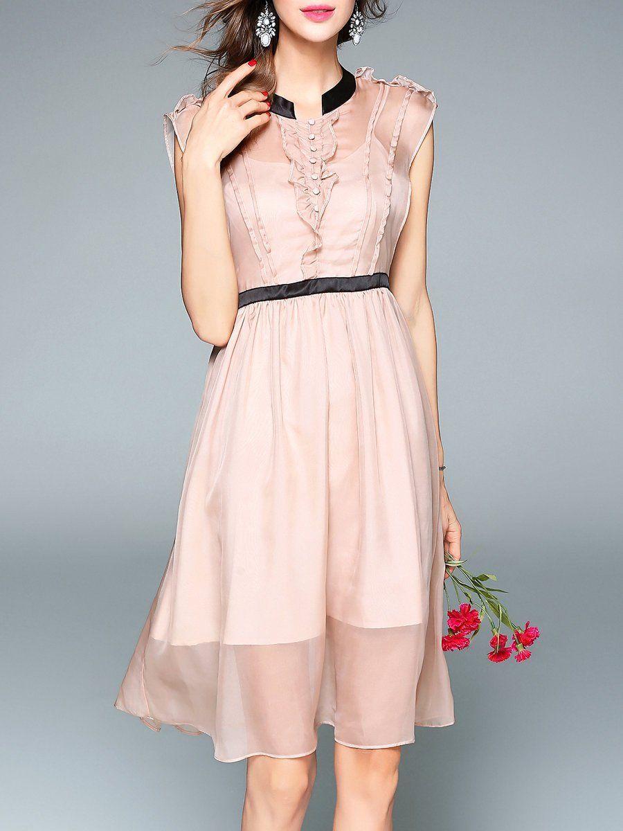 Adorewe stylewe midi dressesdesigner viva vena pink shirt