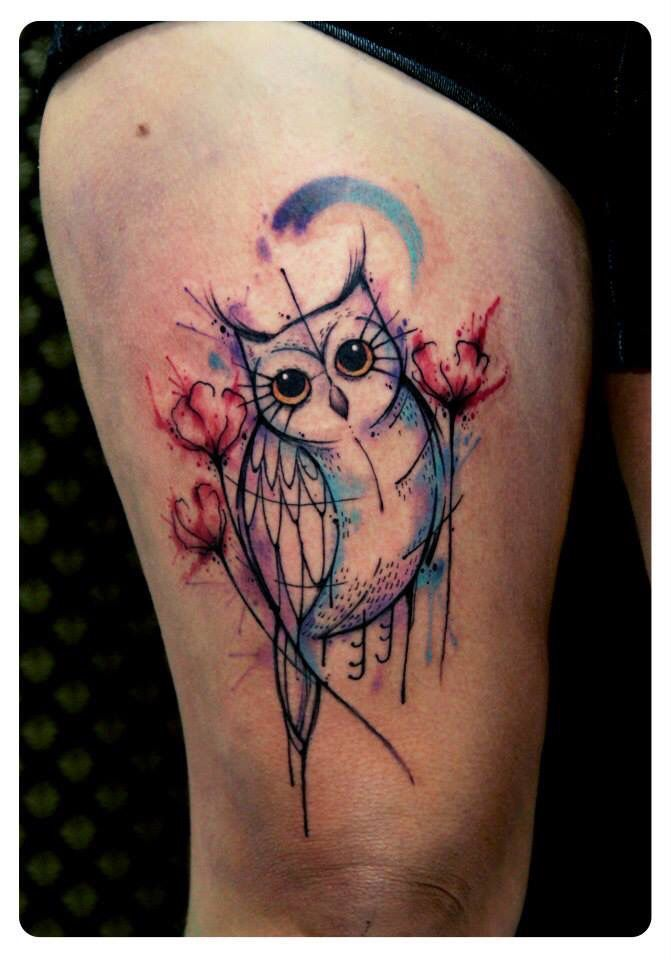 owl tattoos geomatric - Google Search