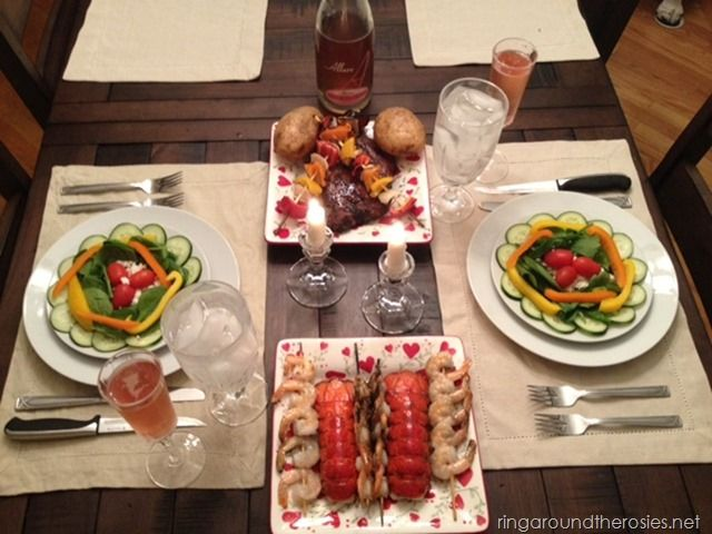 Diy romantic dinner for two {anniversary style} fo od