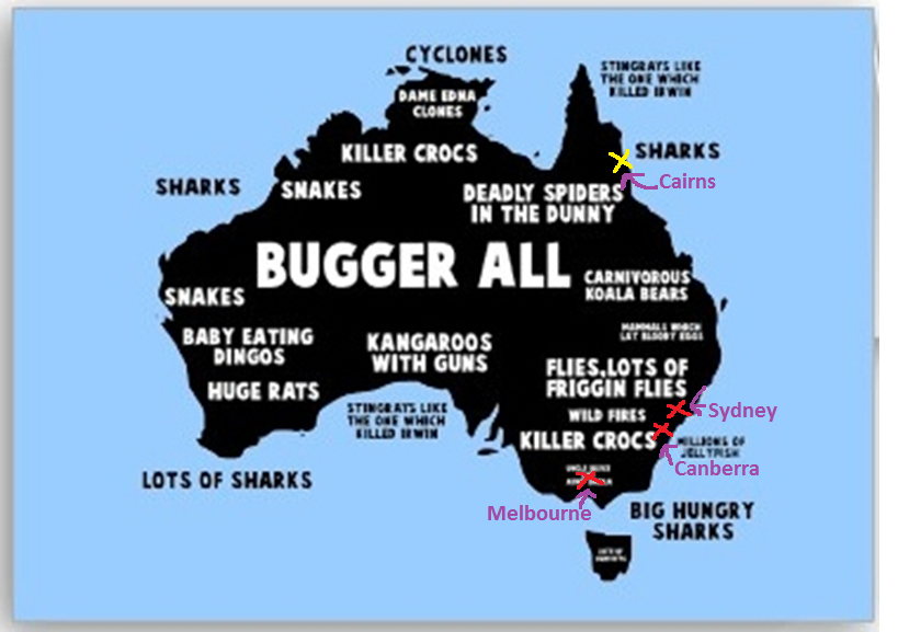 Map Of Australia Funny.Humorous Map Of Australia Not Sure If An Australian Did This Map