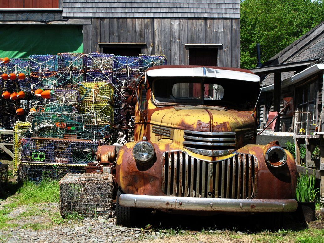 Rusty truck in Maine | Automobiles | Pinterest