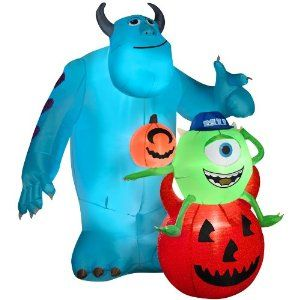 gemmy inflatable mike and sulley outdoor halloween disney decoration - Outdoor Inflatable Halloween Decorations
