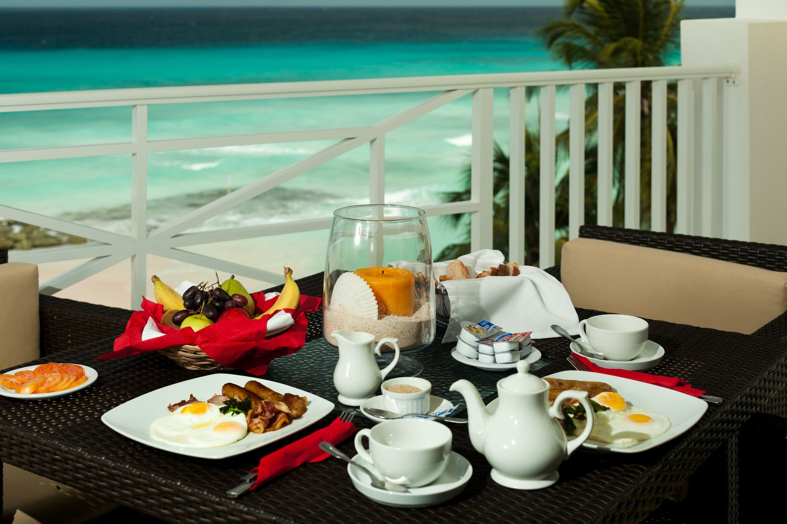 Breakfast in Barbados at Ocean Two, a Barbados beach resort offering ...