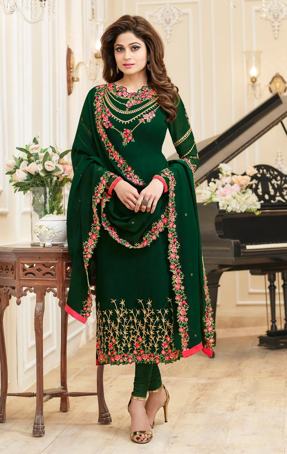 Georgette Latest Indian Salwar Kameez Designs 2018 For Parties