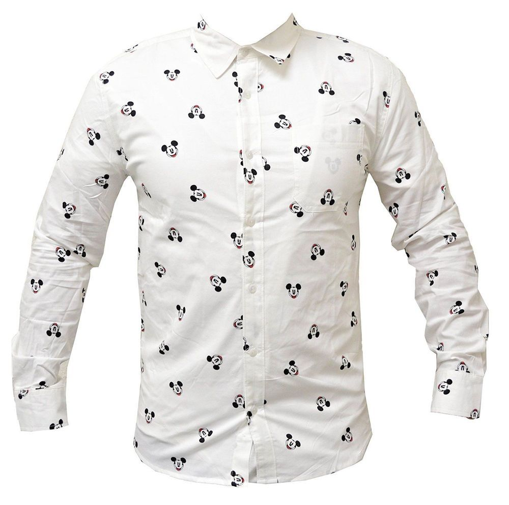 b9456237 NEW Disney sz LRG Men's MICKEY Mouse all over print polo Dress shirt Button  Down #Disney #GraphicTee #mickeymouse #allover #buttondown #new #menswear  ...