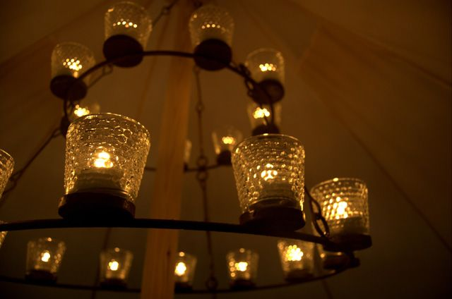 Tealight Chandelier Flame Under Canvas Surely Not Tea Lights Bell Tent Chandelier
