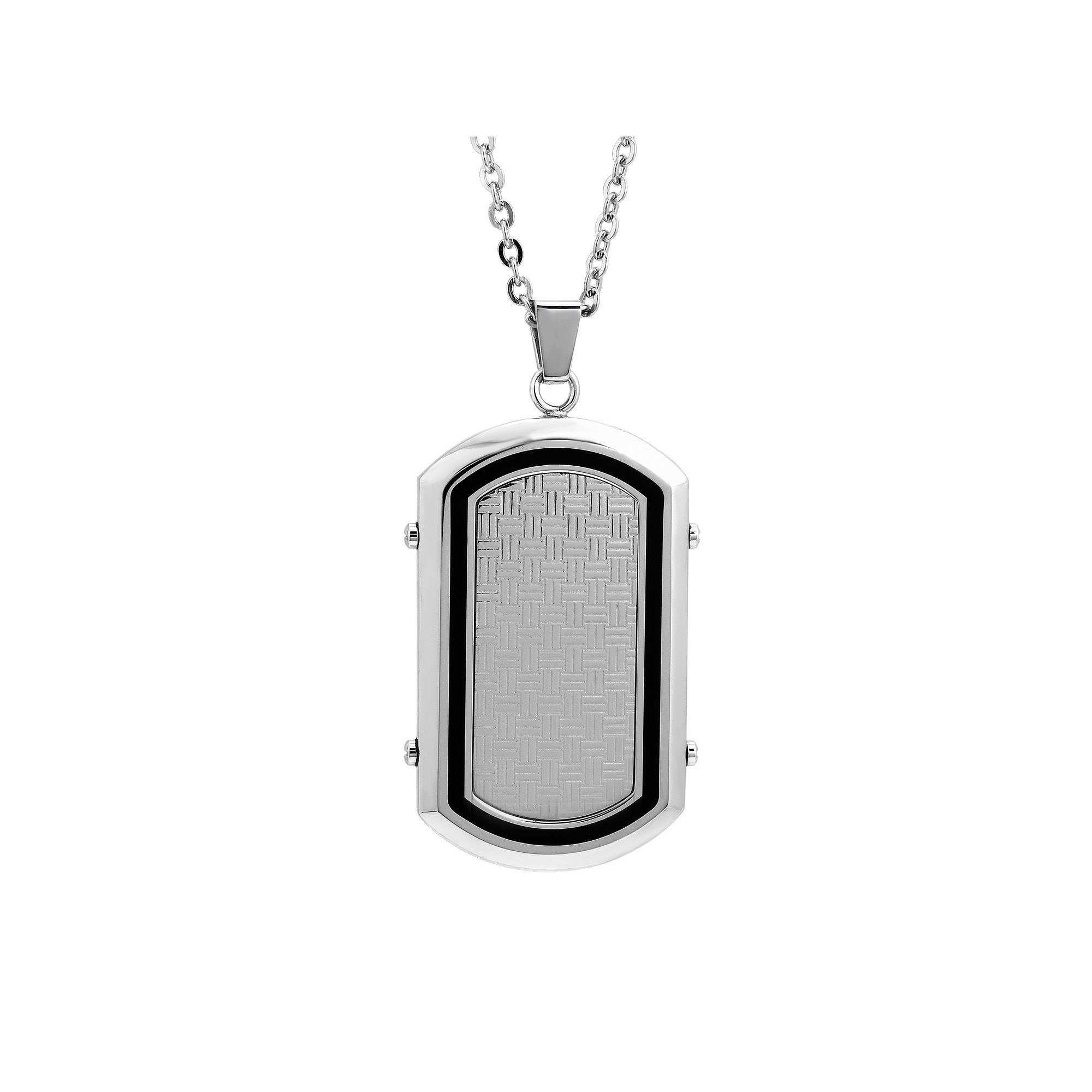 b9424d0bb Lynx Stainless Steel & Resin Dog Tag Necklace - Men | Products ...