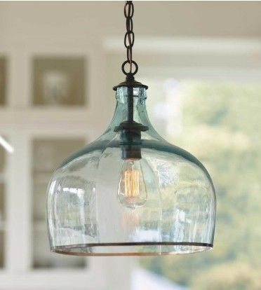 Recycled Glass Globe Light - we should try this!!