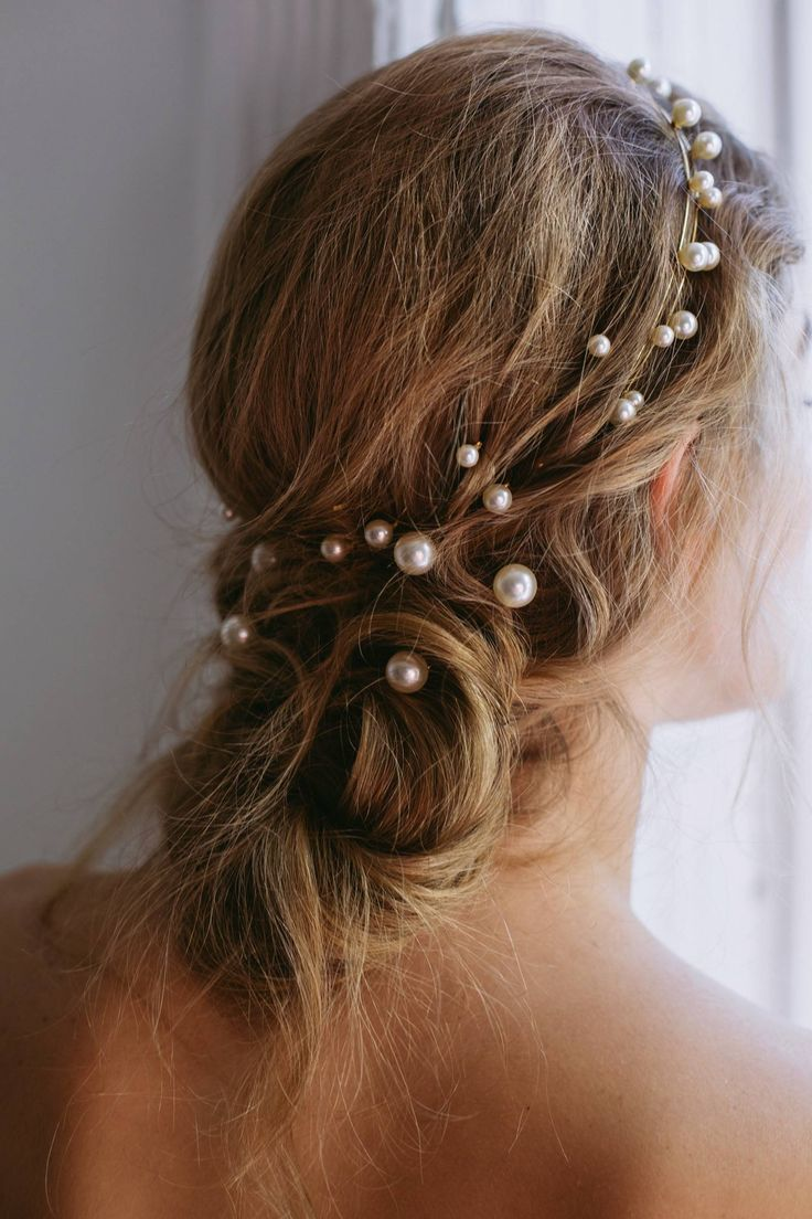 Jennifer Behr 2018 Bridal Collection is part of Hair styles, Wedding hairstyles, Wedding hairstyles updo, Hair trends, Headband hairstyles, Hair - Effortlessly feminine bridal jewelry and hair pieces