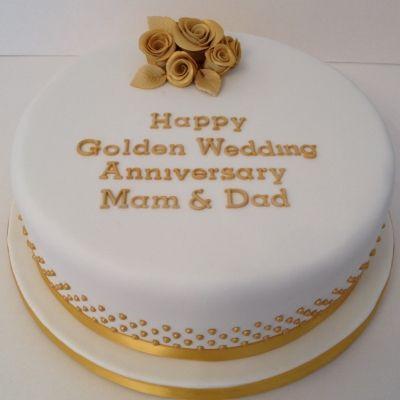 Round Golden Wedding Anniversary Cake Wedding Anniversary Cakes 50th Wedding Anniversary Cakes Golden Wedding Anniversary Cake