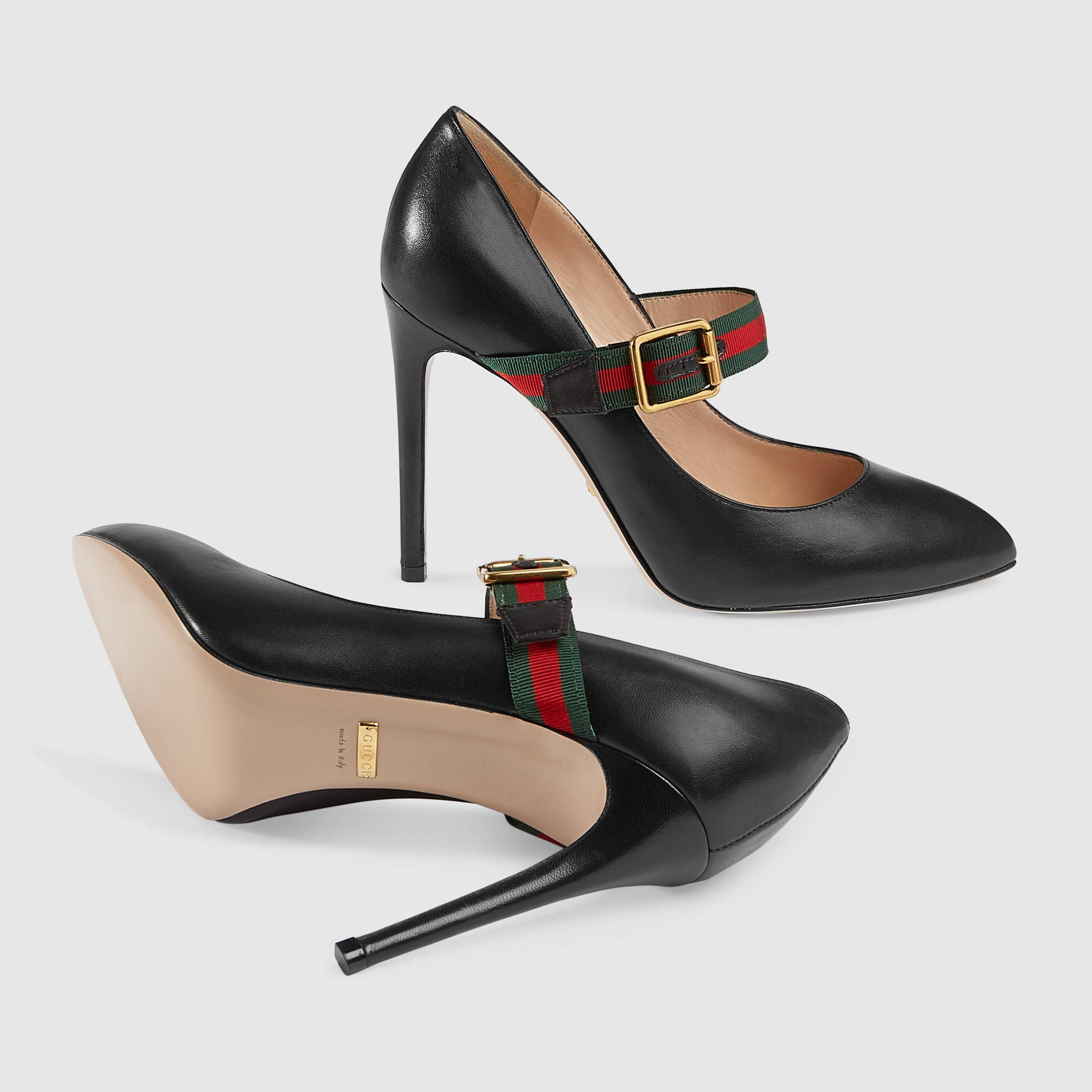 af72c0895f6 Gucci Sylvie leather pump Detail 5
