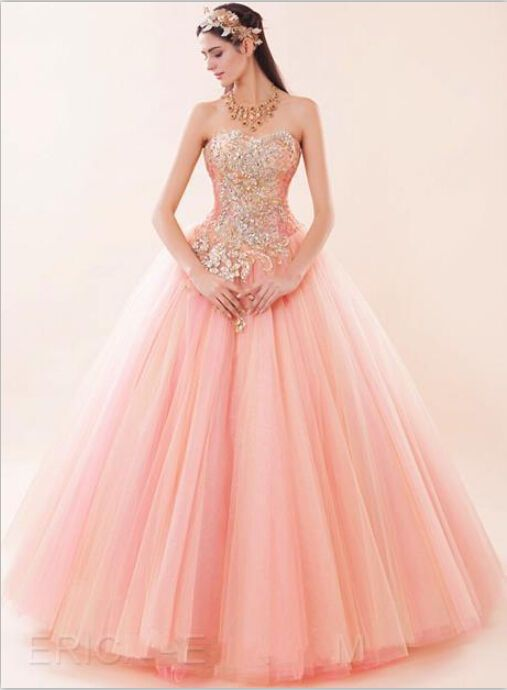 Sweetheart Ball Gown Evening Dress Quinceanera Party Formal Prom ...