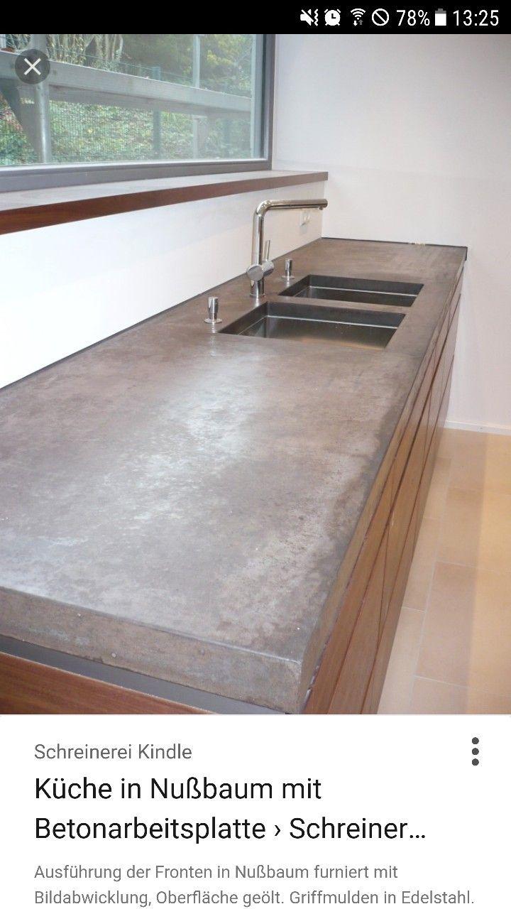 betonarbeitsplatte | küche | pinterest