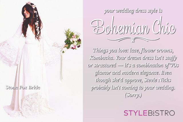 My Wedding Gown Should Be A Bohemian Chic Which Style Is For Younull