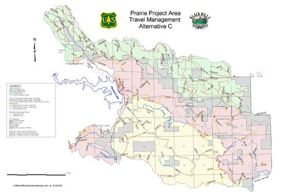 Black Hills National Forest Map SD SAR Navigation Theory - Us national forests on a map