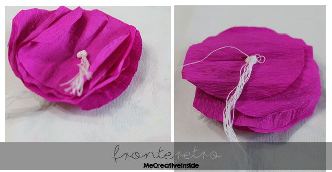 fiori in carta crespa tutorial diy me creative inside