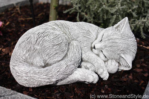 Steinfigur Katze Schlafend Frost Und Wetterfest Cats Art Drawing Cat Art Cat Statue