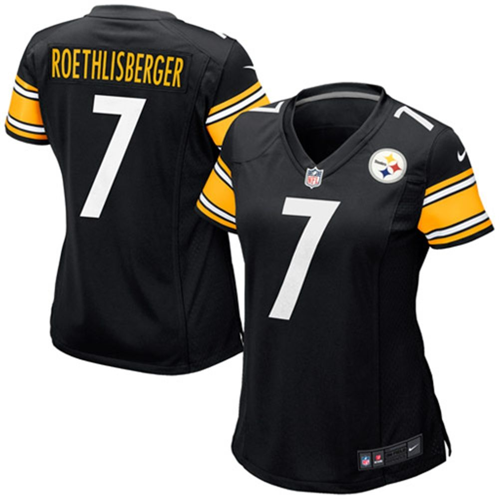 ... Womens Pittsburgh Steelers Ben Roethlisberger Nike Black Game Jersey ... a0da736ed