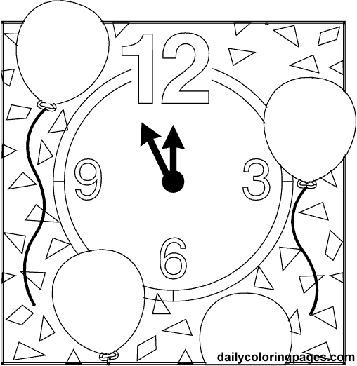 New year's coloring pages new year's eve coloring pages holiday Canada New Year's Eve Color Sheets New Year's Eve Printables New Year's Eve E-cards
