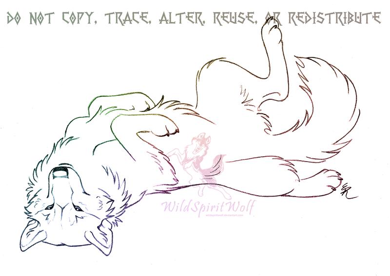Photo of Happy Rolling Wolf Sketch by WildSpiritWolf on DeviantArt
