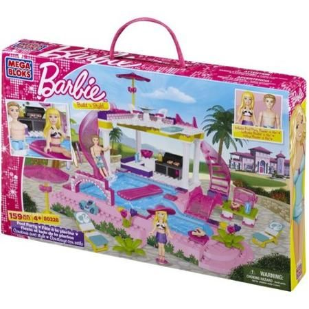 Mega Bloks Barbie Build 'n Style Pool Party Play Set