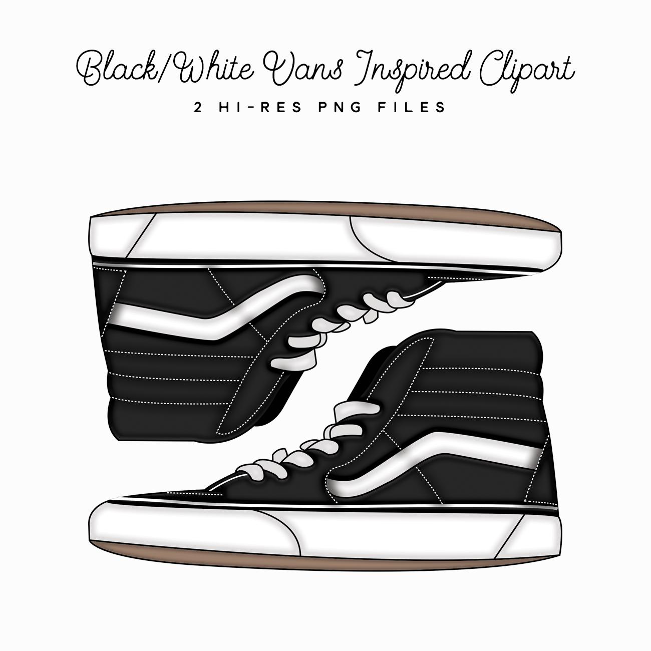 Blackwhite Planner Vans Sneaker Clipartcute Dewhi92y White fg76bYvIy