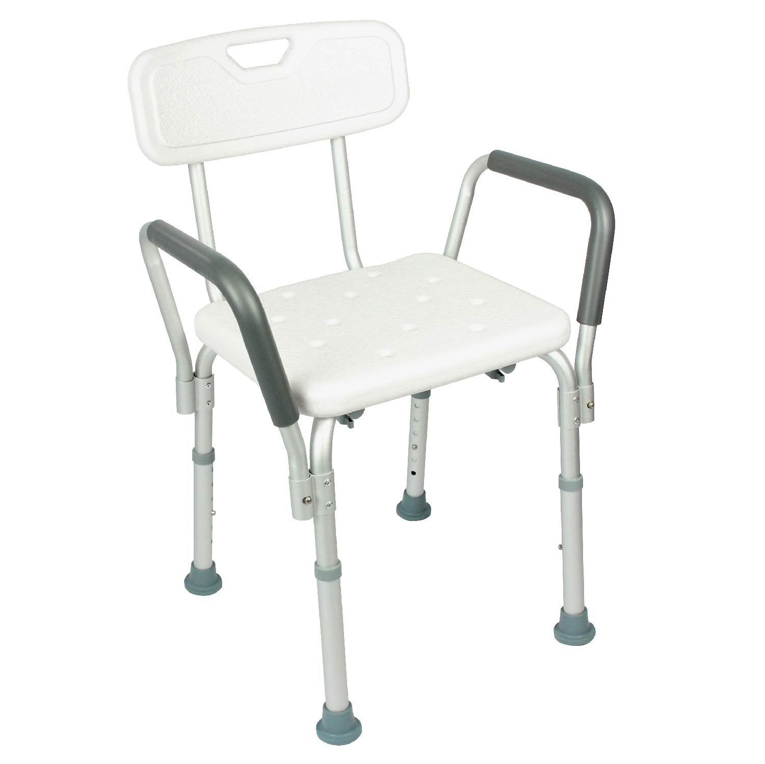 Shower Chair with Back by Vive - Bathtub Chair w/ Arms for Handicap ...