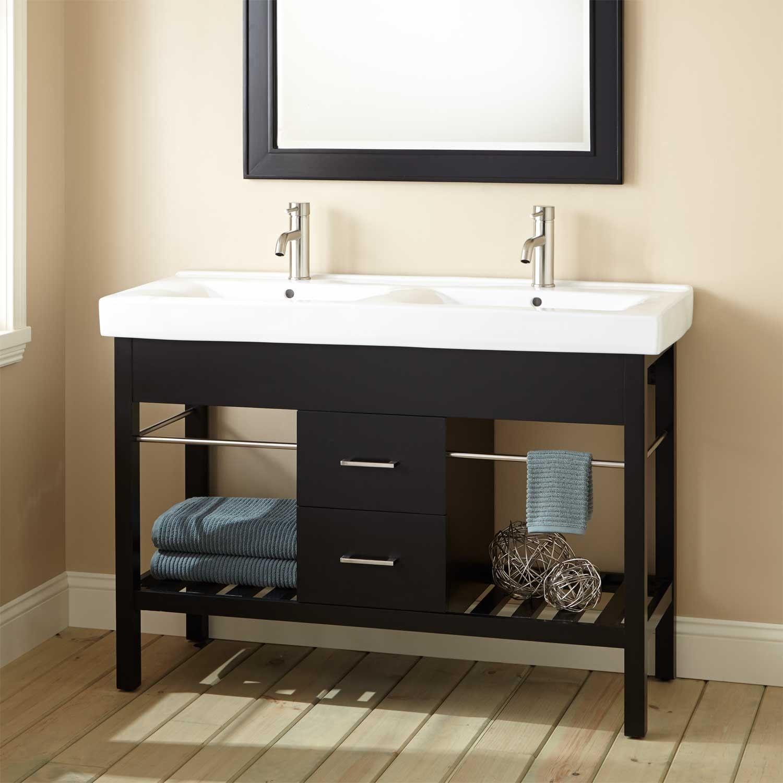 "Modern Design Bathroom Vanities 48"" Manhattan Double Console Vanity  Bathroom Vanities  Bathroom"