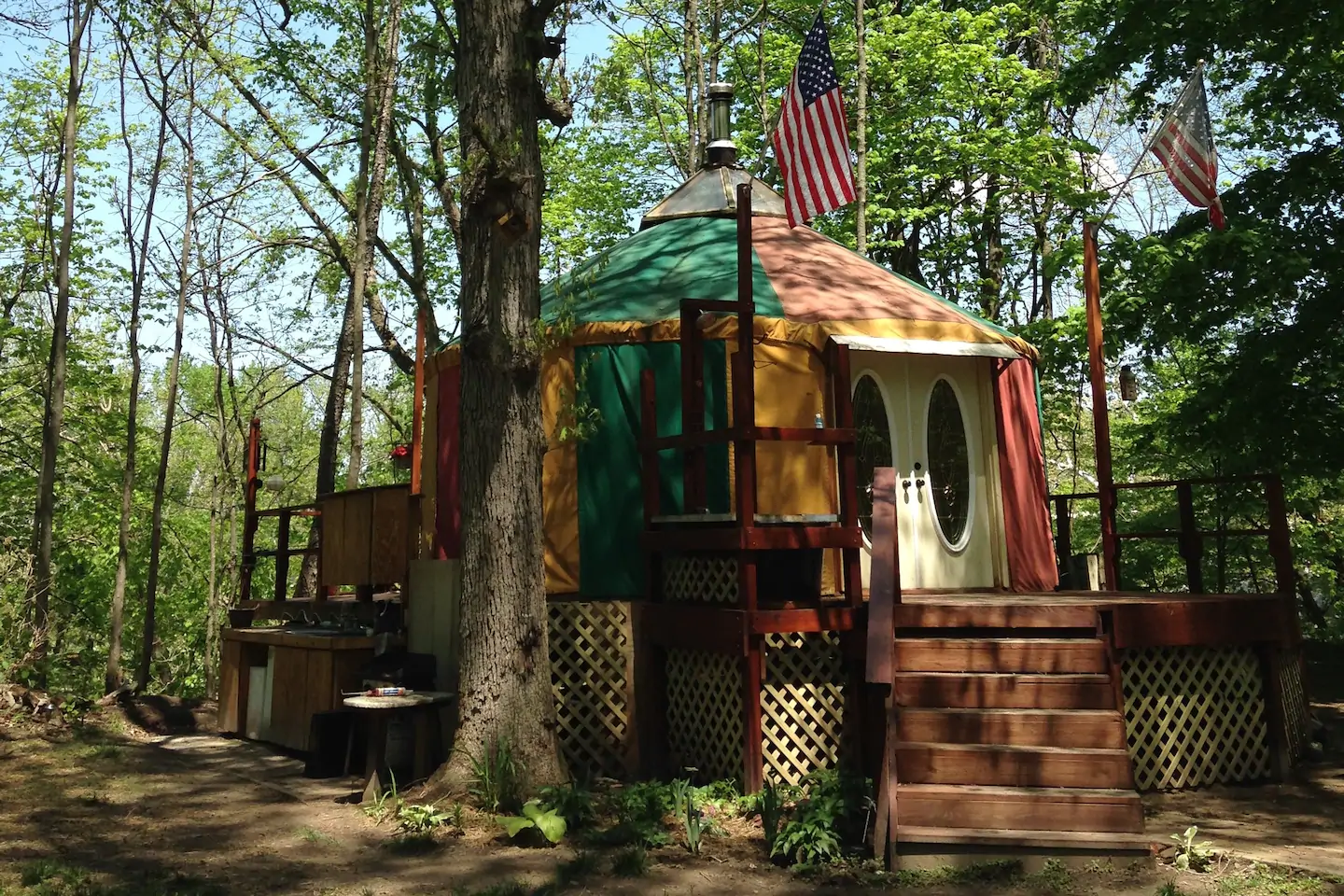Glamping in a Yurt on the Tippecanoe River Yurts for