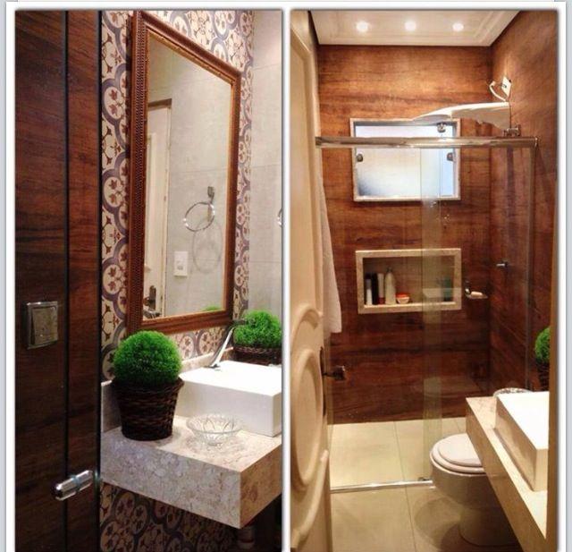 Banheiro apartamento 45m - madeira