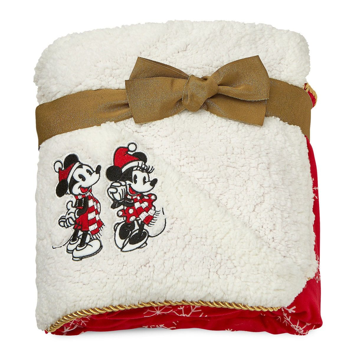 Mickey and Minnie Mouse Holiday Throw Blanket Holiday