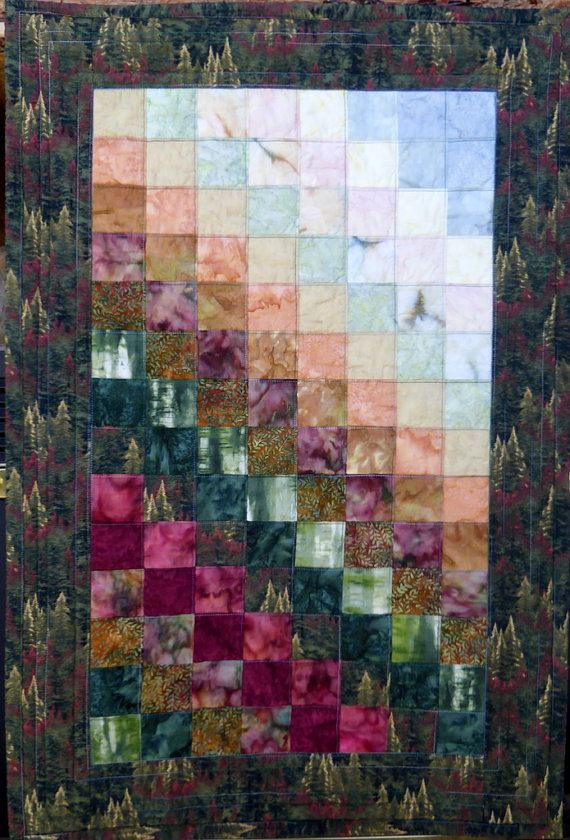Landscape Quilt Art Quilted Wall Hanging
