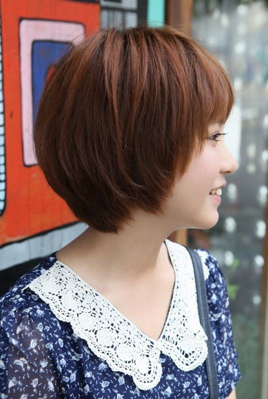 Side View Of Cute Short Korean Bob Hairstyle Sweet Short Hair