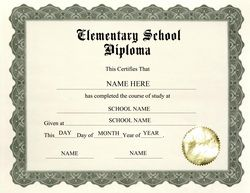 graduation diploma template  elementary school diploma printable free | Download Elementary ...