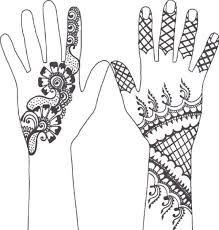 Henna Hand Template