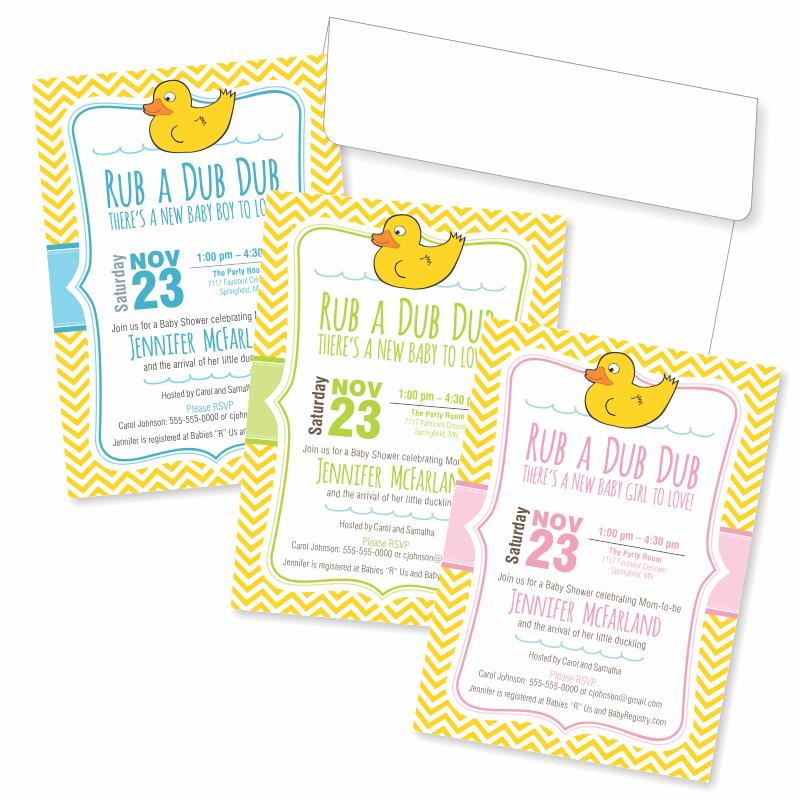 Rub A Dub Dub theme, Rubber Duck Invitations! Baby shower ...