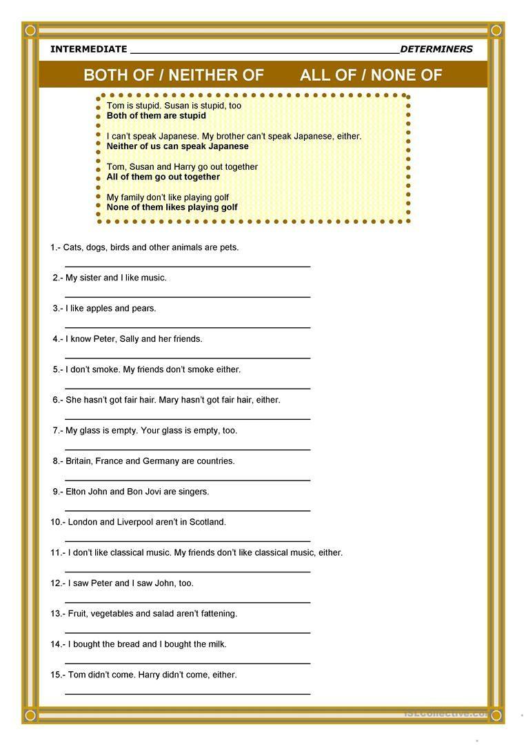 hight resolution of Determiners worksheet - Free ESL printable worksheets made by teachers    Determiners