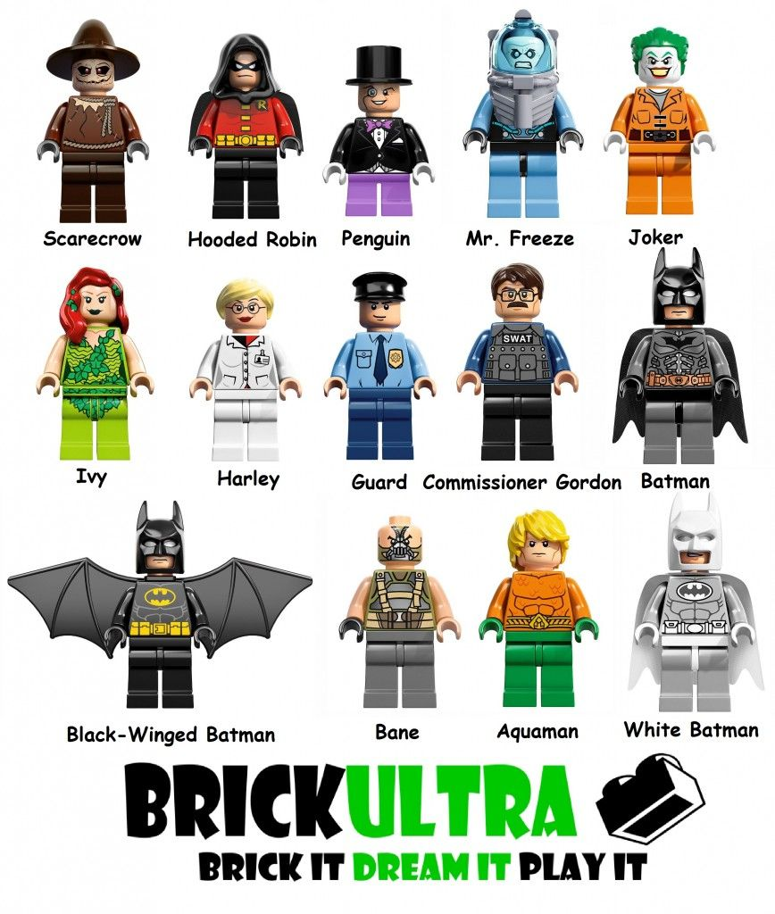 new DC minifigures!  I like the Aquaman, winged Batman and the Gordon ones...