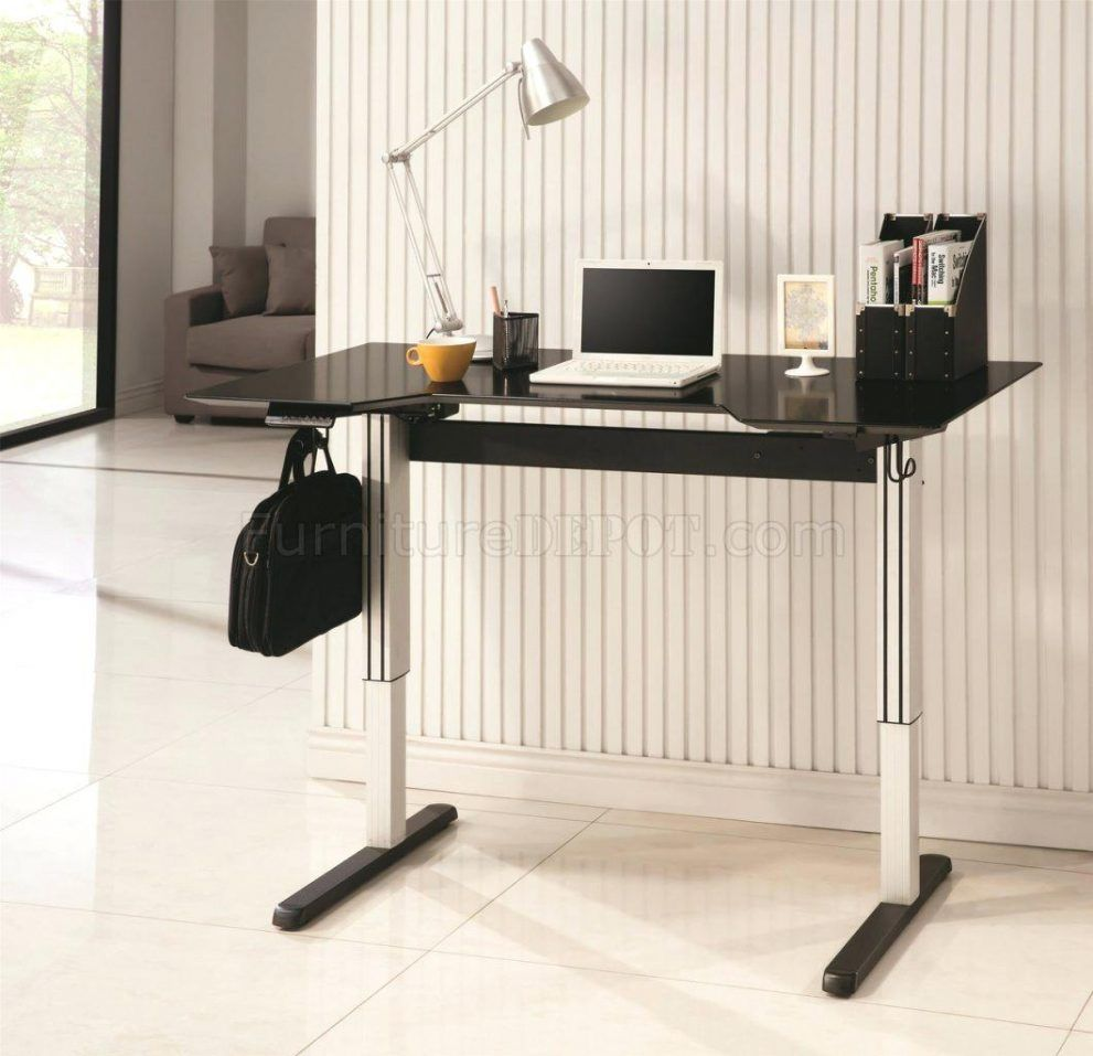 Adjustable Standing Desk Office Depot Coaster Furniture Adjustable Standing Desk Sit Stand Desk