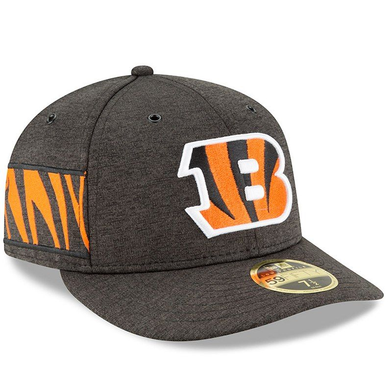 pretty nice 6a35d 07872 Cincinnati Bengals New Era 2018 NFL Sideline Home Official Low Profile  59FIFTY Fitted Hat – Black
