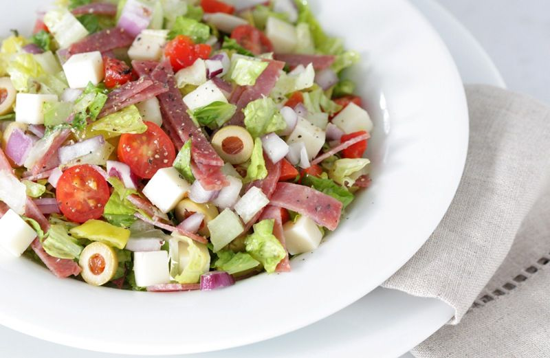 Chopped Muffuletta Salad...Amazingly good and relatively low calorie salad~ Love muffuletta!