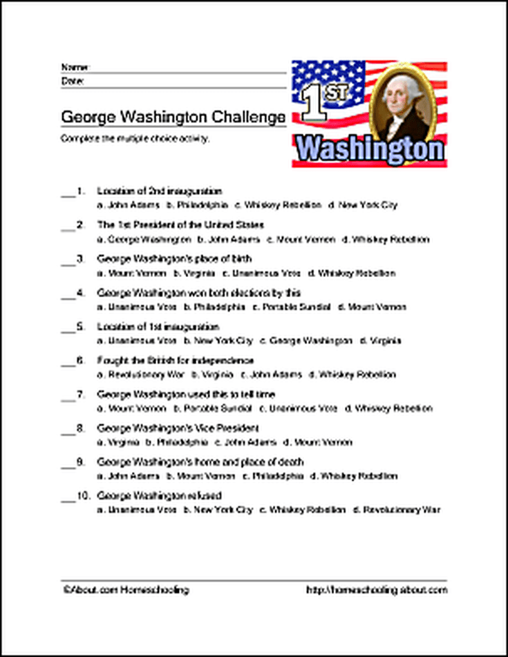 Games and Activities for President\'s Day