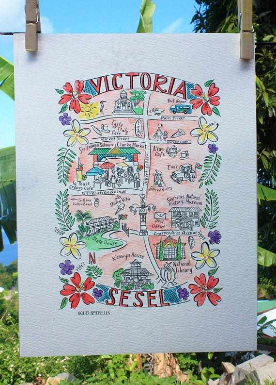 Our Illustrated Map Of The Small But Bustling City Of