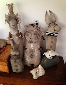 goldeneggstudio: My Linen Dolls