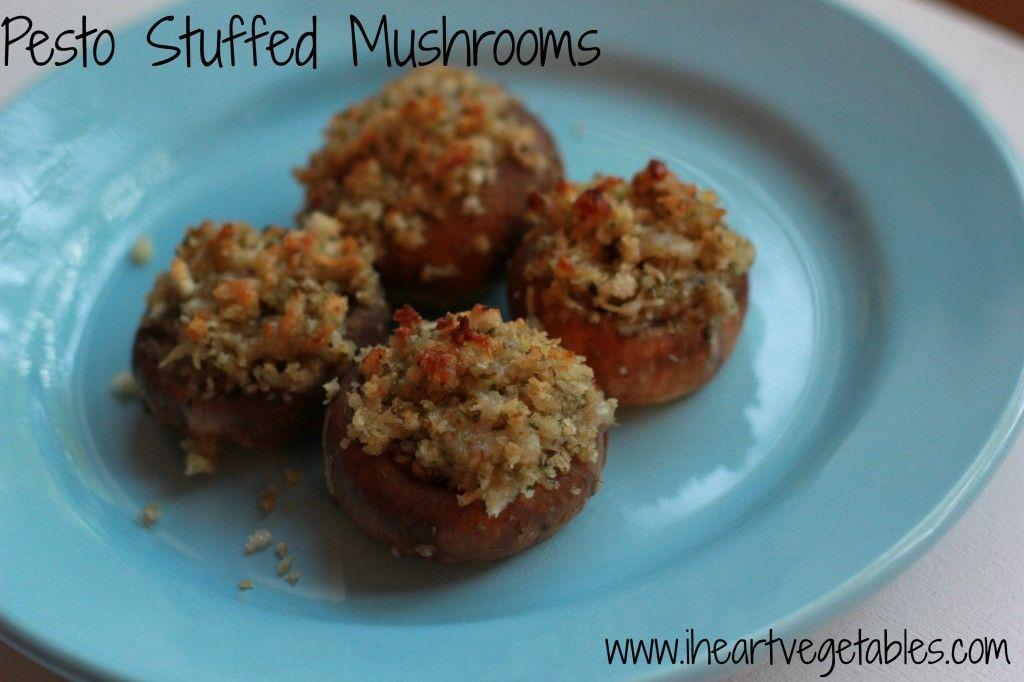 Pesto Stuffed Mushrooms - I Heart Vegetables
