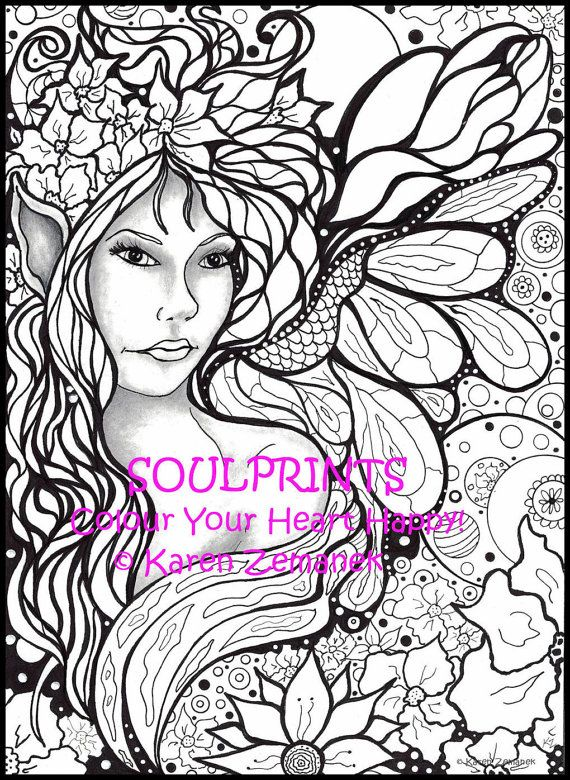 Adult Colouring Pages, Printable Coloring Pages; Adult Coloring Book ...